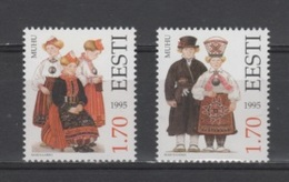 (S1883) ESTONIA, 1995 (Folk Costumes, 2nd Issue). Complete Set. Mi ## 248-249. MNH** - Estonia
