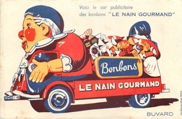 Buvard Ancien LE NAIN GOURMAND - CONFISERIE - Sucreries & Gâteaux