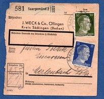 Colis Postal  -  Départ Saargemünd 2   --  30/11/1942 - Germany