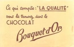 Buvard Ancien CHOCOLAT BOUQUET D OR - Chocolat