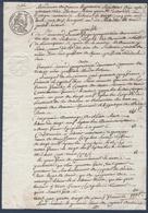 Manuscrit De 1834.Armand Proust De Richelieu Contre François Durand De Tavant. - Manuscrits