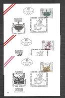 1971 - N. 1184/86 SU 3 BUSTE CON ANNULLO PRIMO GIORNO (CATALOGO UNIFICATO) - FDC