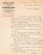 69 LYON PERRACHE COURRIER 1938 Grains & Farines Emile BOUVARD & BOUGET    X8 - France