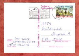 P 493 Burg Grein, MS Thermal Heilbad Villach, Nach Wien 1990 (68954) - Entiers Postaux