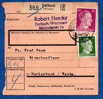 Colis Postal  -  Départ Forbach   --  24/11/1943 - Germany