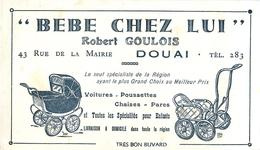 Buvard Ancien BEBE CHEZ LUI - ROBERT GOULOIS - SPECIALITES POUR ENFANTS - DOUAI - Enfants