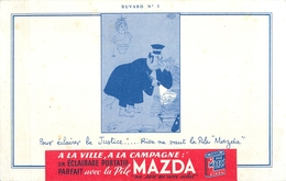 Buvard Ancien PILE MAZDA - Piles