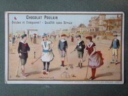Chromo, Trouville - (Jeux De Croquet Sur La Plage) - Poulain