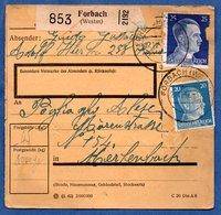 Colis Postal  -  Départ Forbach   --  27/11/1942 - Duitsland