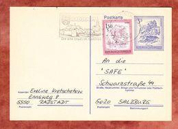 P 463 Bischofsmuetze + ZF, MS Radstadt, Nach Salzburg 1991 (68956) - Entiers Postaux