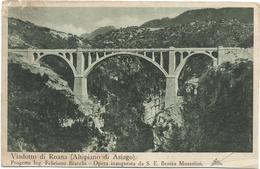 W603 Viadotto Di Roana (Vicenza) - Progetto Dell'Ing. Feliciano Bianchi - Retro Incollato E Danneggiato / Viaggiata - Italie