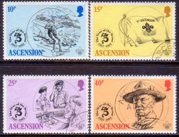 ASCENSION 1982 SG #309-13 Compl.set+m/s Used Boy Scouts - Ascension