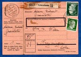 Colis Postal  -  Départ Gravelotte -  Avec Rabat   --  06/3/1943 - Allemagne