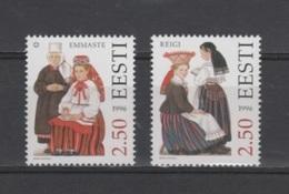 (S1888) ESTONIA, 1996 (Folk Costumes, 3rd Issue). Complete Set. Mi ## 274-275. MNH** - Estonia