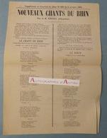 Les Nouveaux Chants Du Rhin - JR Vindex (d'Espalion) Dédiés Au Capitaine Ayrolles & Paul Deroulède Courrier De Bône 1886 - Non Classés