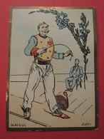 CHROMO. Lith. Romanet. Symbole Des Fleurs. GLAÏEUL.  DEFI.   ESCRIME.  Epée. - Old Paper
