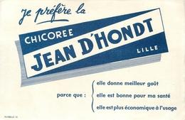 Buvard Ancien CHICOREE JEAN D HONDT - LILLE - Café & Thé