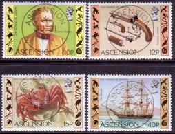 ASCENSION 1982 SG #314-17 Compl.set Used Charles Darwin's Voyage - Ascension