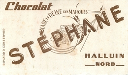Buvard Ancien CHOCOLAT STEPHANE - REINE DES MARQUES - HALLUIN - Cocoa & Chocolat