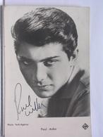 AUTOGRAPHE - DEDICACE - CARTE SIGNEE - PAUL ANKA - Autographs