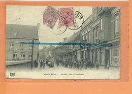 CPA - Mouscron - MONT A LEUX - Grand'Rue ( Frontière ) - Mouscron - Möskrön