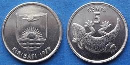 "KIRIBATI - 5 Cent 1979 ""stump-tailed Gecko"" KM# 3 - Edelweiss Coins - Kiribati"