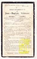 DP Im. Pieuse - Jean Bapt. Valenduc / Morel ° Wijtschate Heuvelland BEL1848 † Silien ? Bretagne FRA 1919 - Images Religieuses