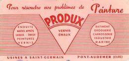 Buvard Ancien PRODUX - VERNIS - PEINTURE - USINE A SAINT GERMAIN - PONT AUDEMER - Peintures