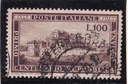1949 Italia Italy Repubblica REPUBBLICA ROMANA Usata USED - 6. 1946-.. República