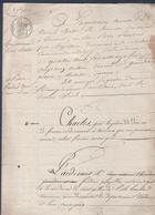 Manuscrit De 1828.Tirage Au Sort Sce Militaire,Henri Breton Scieur-de-long à Theneuil Remplace Pierre Imbert De Sérigny. - Manuscrits