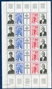 France - Feuille Entière Général De Gaulle En 1971 Neufs Luxe Cote 17,50€ - Feuilles Complètes