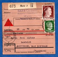 Colis Postal  -  Départ Metz 3 -  Pour Betting  -  20/3/1943 - Germany