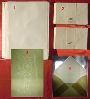 Lotto ANTICA CARTA DI AMALFI Marcata AMATRUDA, 100 FOGLI + 100 BUSTE, Con FILIGRANE Visibili - Other Collections
