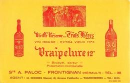 Buvard Ancien VIEILLE RESERVE DES TROIS FRERES - RITO - SAINT A.PALOC - FRONTIGNAN - VALENCIENNES - Liqueur & Bière