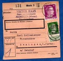 Colis Postal  -  Départ Metz 3 -  Pour Bening -  18/3/1943 - Germany