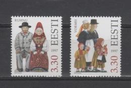 (S1889) ESTONIA, 1997 (Folk Costumes, 4th Issue). Complete Set. Mi ## 306-307. MNH** - Estonia