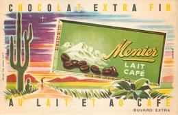 Buvard Ancien CHOCOLAT MEUNIER - LAIT CAFE - Cocoa & Chocolat