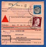 Colis Postal  -  Départ Metz 3 -  10/9/1943 - Germany