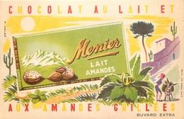 Buvard Ancien CHOCOLAT MEUNIER - LAIT AMANDES - Cocoa & Chocolat