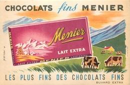 Buvard Ancien CHOCOLAT MEUNIER - LAIT EXTRA - Cocoa & Chocolat