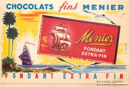 Buvard Ancien CHOCOLAT MEUNIER - FONDANT EXTRA FIN - Chocolat