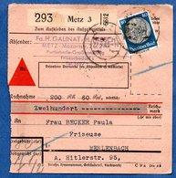 Colis Postal  -  Départ Metz 3 -  23/9/1943 - Germany