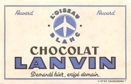 Buvard Ancien CHOCOLAT LANVIN - VALENCIENNES - Cocoa & Chocolat