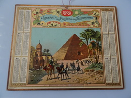 Almanach Des Postes De 1909 Excursion Aux Pyramides De Cheops - Calendriers