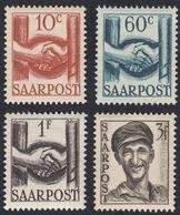 SAAR - SARRE - 1948 - Lotto 4 Valori Nuovi MNH: Yvert 231, 232, 233 E 235. - 1947-56 Occupation Alliée