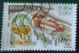 3387 France 2001 Oblitéré Besançon Doubs Citadelle Vauban Et Fontaine - France