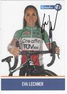 EVA  LECHNER  CHAMPIONNE ITALIE  CREAFIN     SIGNEE    CYCLO CROSS - Ciclismo