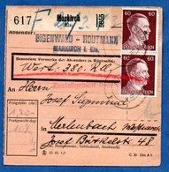 Colis Postal  -  Départ Markirch  --  03/3/1943 - Germany