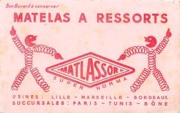 Buvard Ancien MATELAS A RESSORTS - SUPER NORMA - LILLE - MARSEILLE - BORDEAUX - Buvards, Protège-cahiers Illustrés