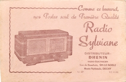 Buvard Ancien RADIO SYLVIANE - POSTES - DHENIN - SIN LE NOBLE - DECHY - Buvards, Protège-cahiers Illustrés